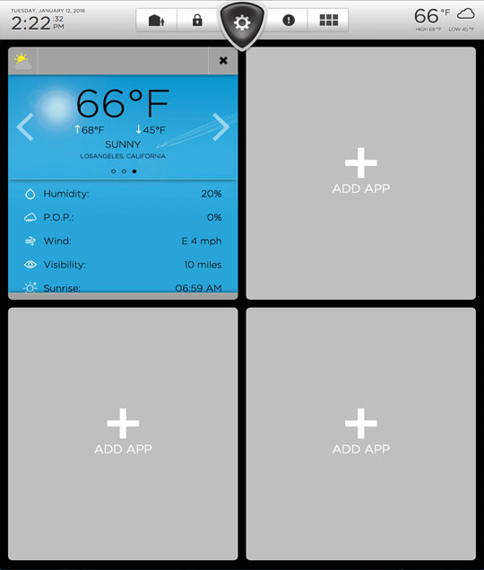 Weather 1/4 Screen